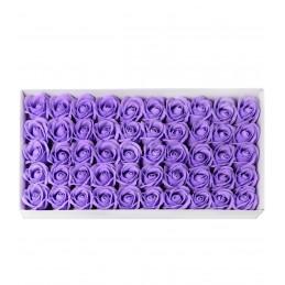Set 50 Trandafiri de Sapun Lavanda