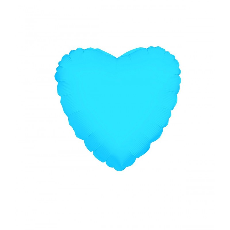 Balon Inima Bleu Metalizat 25 cm