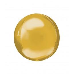 Balon Sfera 3D 25cm Auriu Metalizat