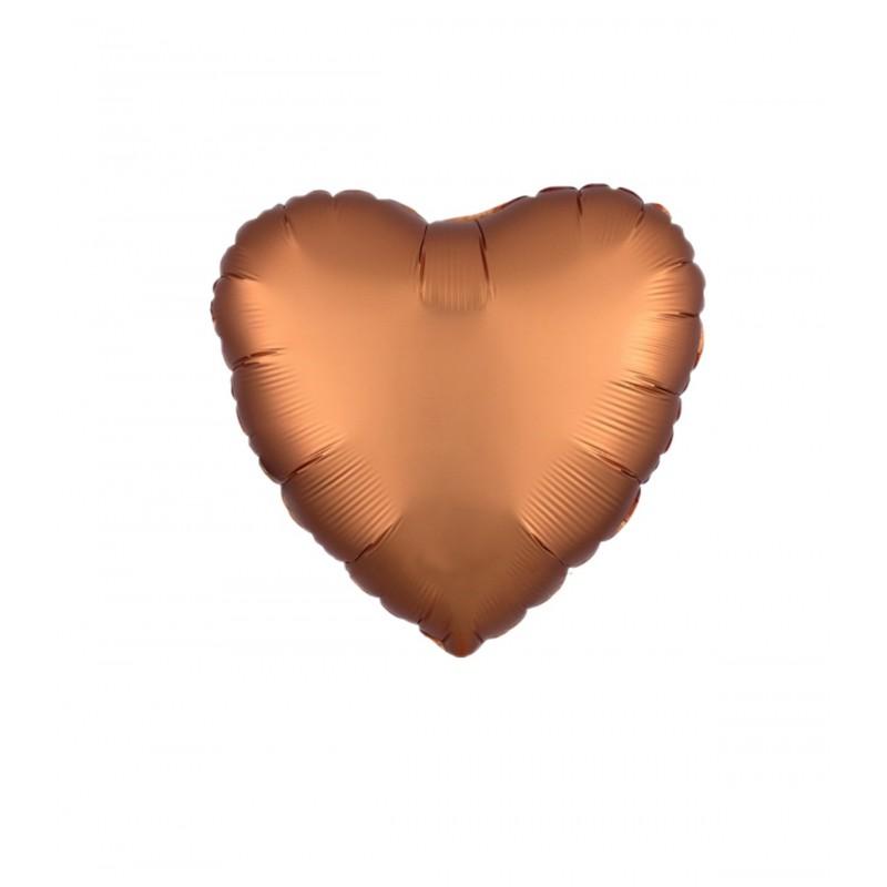Balon Inima Rose Gold Satin 25 cm