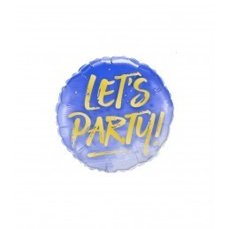 Balon LET'S PARTY ! bleu