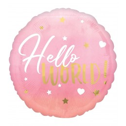 Balon HELLO WORLD ! roz