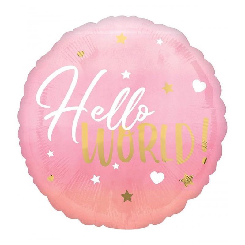 Balon HELLO WORLD ! roz