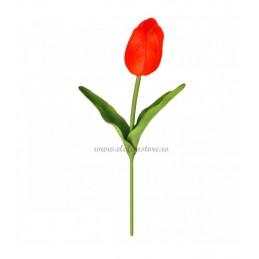 Lalea rosie din silicon 33 cm