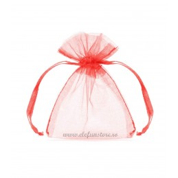 Saculet organza rosu, 12*10 cm