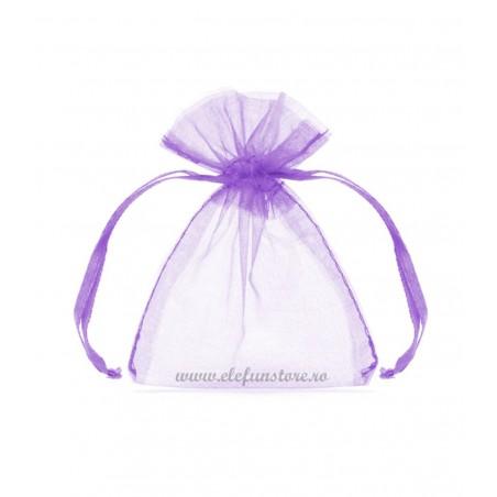 Saculet organza lila, 12*10 cm