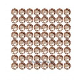 Set 144 Diamante Adezive Rose Gold 1 cm