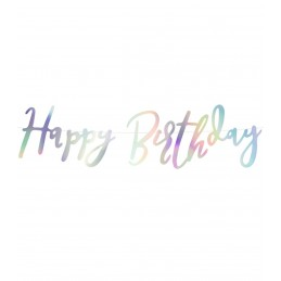 Banner Happy Birthday Iridiscent