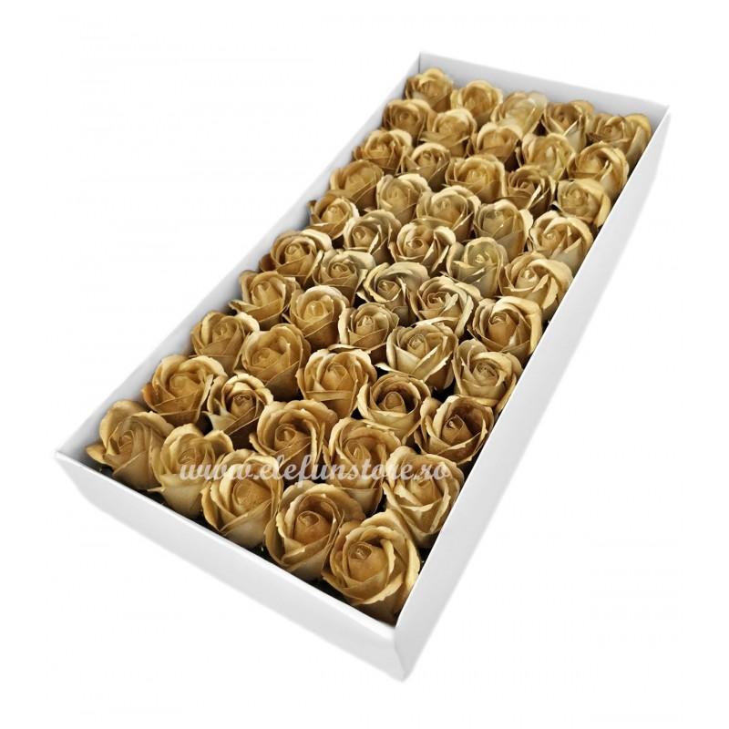 Set 50 Trandafiri de Sapun Aurii