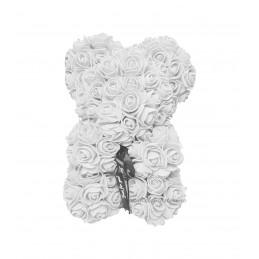 Ursulet din trandafiri albi 25 cm