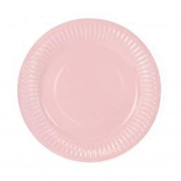 Set 6 farfurii roz 18cm