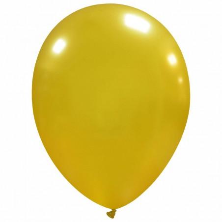 Set 100 Baloane Auriu Metalizat 30cm