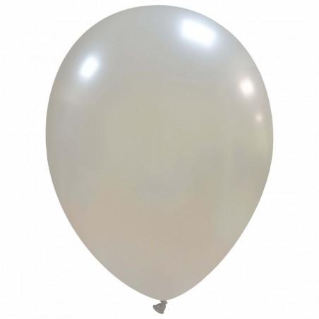 Set 100 Baloane Argintiu Metalizat 30cm