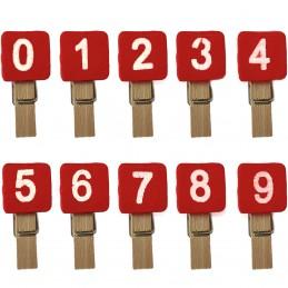 Set 10 clestisori cu numere...
