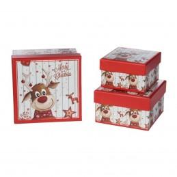 Set 3 cutii patrate Merry...
