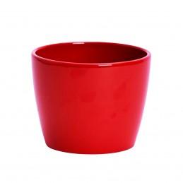 Vas ceramic rosu, ghiveci...