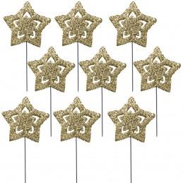 Set 24 stelute gold glitter...