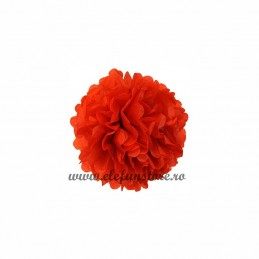 Floare Pom Pom Bordeaux 25 cm