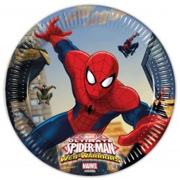 Set 8 farfurii Spiderman 20 cm