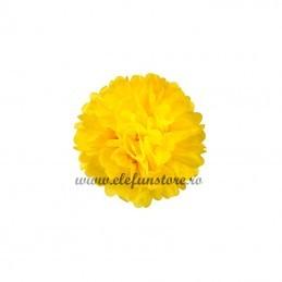 Floare Pom Pom Galbena 25 cm