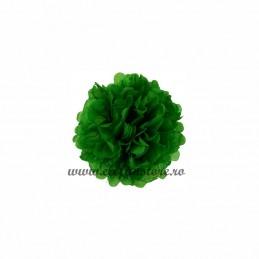Floare Pom Pom Verde Inchis 25 cm