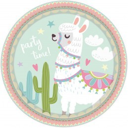 Set 8 farfurii Llama Party...