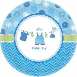 Set 8 farfurii Baby Boy 18 cm