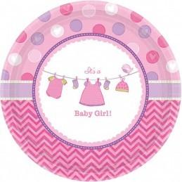 Set 8 farfurii Baby Girl 18 cm