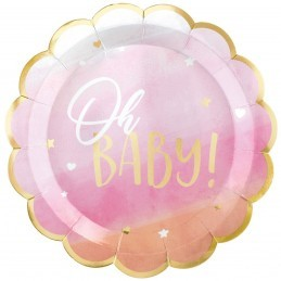 Set 8 platouri roz OH Baby!...
