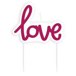 Lumanare eticheta LOVE