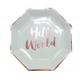 Set 8 farfurii HELLO WORLD...