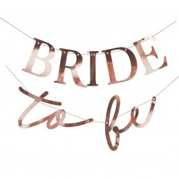 Banner Bride To Be rose gold