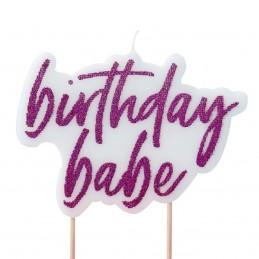 Lumanare Birthday Babe roz...
