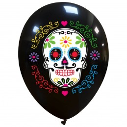 Set 10 baloane Sugar Skull...