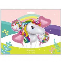 Kit 5 Baloane Unicorn Party