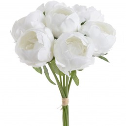 Buchet bujori albi 7 fire 27cm