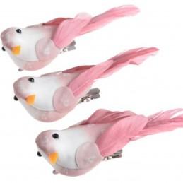 Set 3 porumbei roz cu...