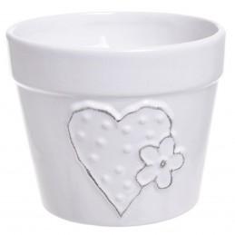 Ghiveci ceramic alb cu...