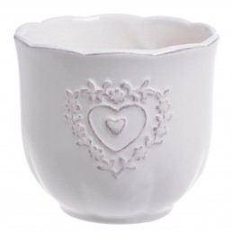 Vas ceramic rotund Hearts,...
