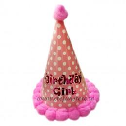 Coif Roz Birthday Girl cu Buline