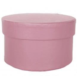 Cutie rotunda roz 11*6cm