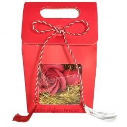 Cutie rosie cu vizor 16 cm