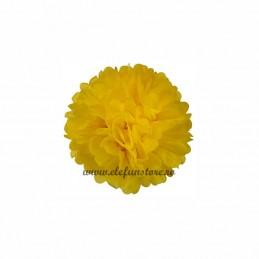 Floare Pom Pom Galbena 30 cm