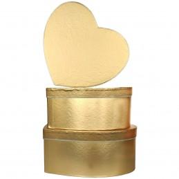 Set 3 cutii inima aurii...