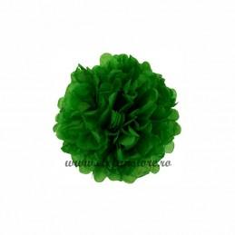 Floare Pom Pom Verde 30 cm