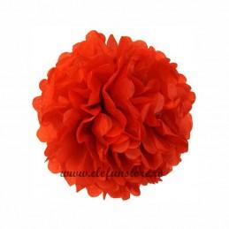 Floare Pom Pom Rosie 40 cm