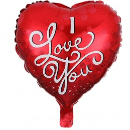 Balon Inima I LOVE YOU red...