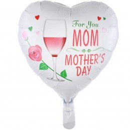 Balon Inima alba Mother's Day