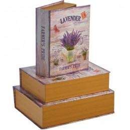 Set 3 cutii carte Lavender,...