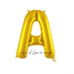 "Balon "" Litera A "" Shiny Gold Slim"